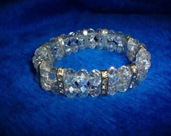 Aurora borealis crystal bracelet a286