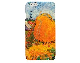 Van Gogh iPhone 6 6s 7 case Impressionism iPhone 6 Plus haystacks iPhone 5 5S cover iPhone SE iPhone 4 4S Samsung S7 Galaxy S4 S5 S6 case