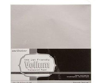 Velum Sheets - 12x12 Velum Sheets - Translucent Velum Sheet - Translucent Craft Paper - 12 x 12 Velum Paper - 12 x 12 Translucent Paper