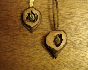 One- off Duo Japanese heartnut necklace (2 pieces)