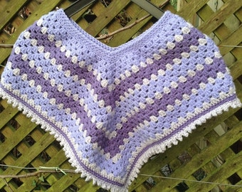 Handmade crochet child's poncho