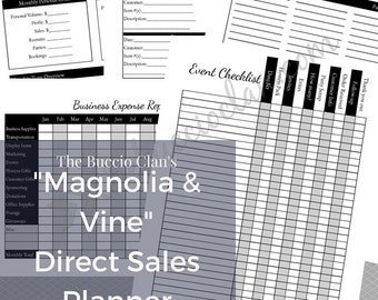 Magnolia and Vine Planner - Magnolia & Vine - Letter Size - Home Business - Direct Sales - Small Business - Printable Planner - Work at Home