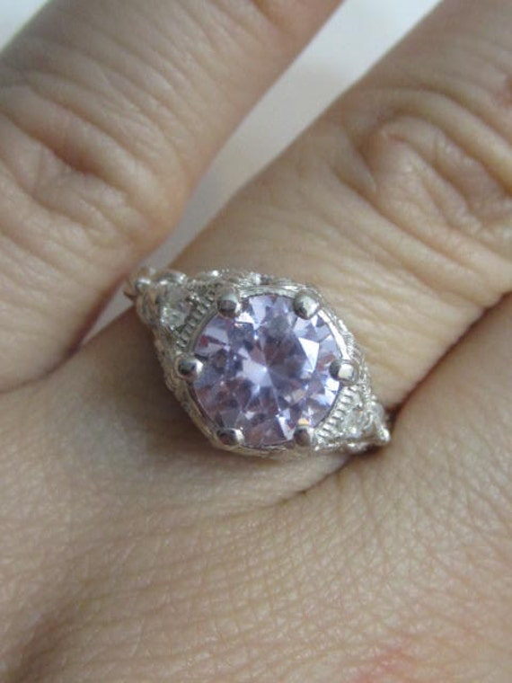 antique reproduction engagement ring vintage ring by