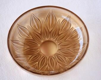 Gold Glass Bowl, sunflower bowl, flower bowl, small decorative bowl, modern wedding bowl, gold candy bowl, golden bowl, gold wedding decor