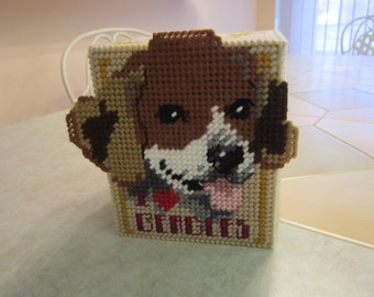 Plastic Canvas I Love Beagles Tissue Box