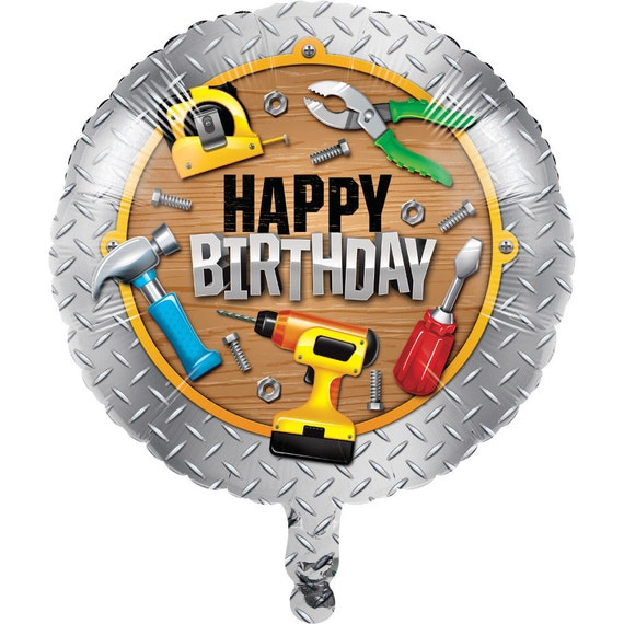 Handyman 18 Balloon Tools Carpenter Happy Birthday Party