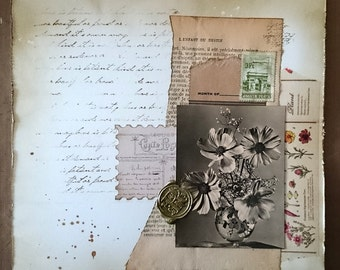 Vintage Floral Collage