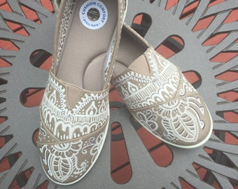 Custom Hand-Drawn Henna Canvas Shoes
