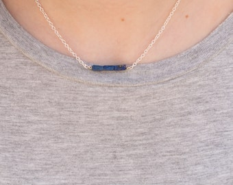Layering Necklace // Dainty Short Necklace // Dainty Gem Choker // Skinny Bar Necklace