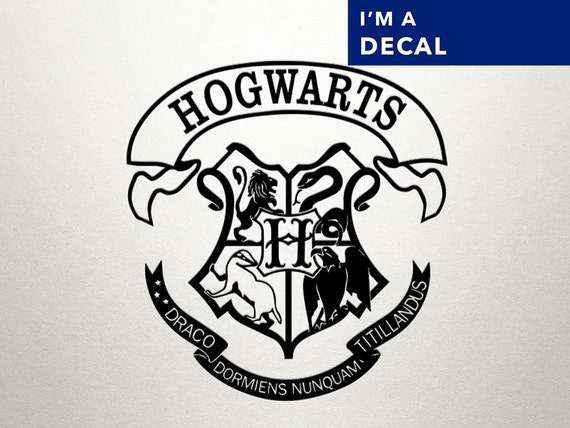 Harry potter decal harry potter hogwarts by dungeonsanddecals - Hogwarts decal ...