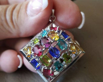 Multi Gemstone Pendant!
