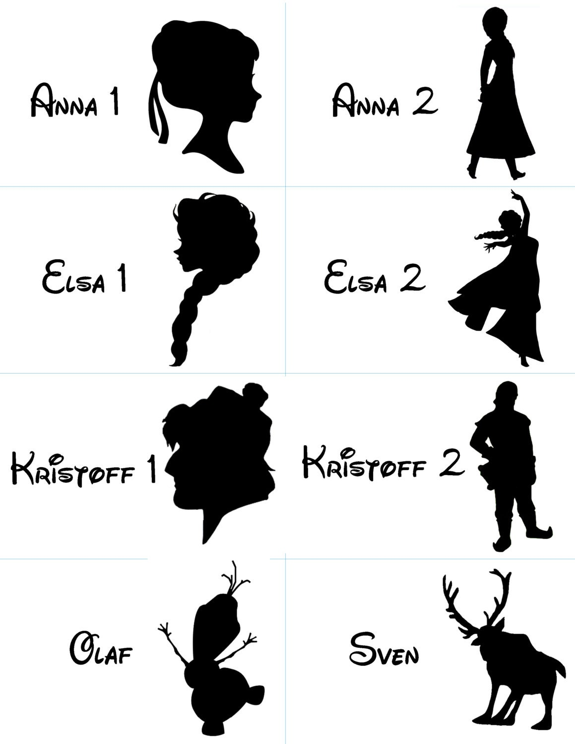 This is an image of Bewitching Disney Character Silhouettes