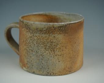 Mug - Anagama Wood Fired - Raw Ash Glaze