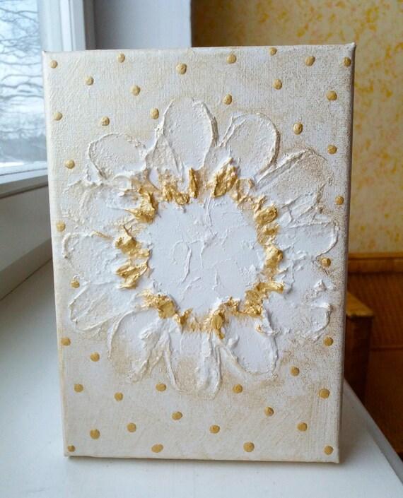 ORIGINAL canvas wall art 3D Painting White