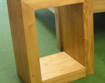 Hand Made Hand Waxed Solid Pine Side Table