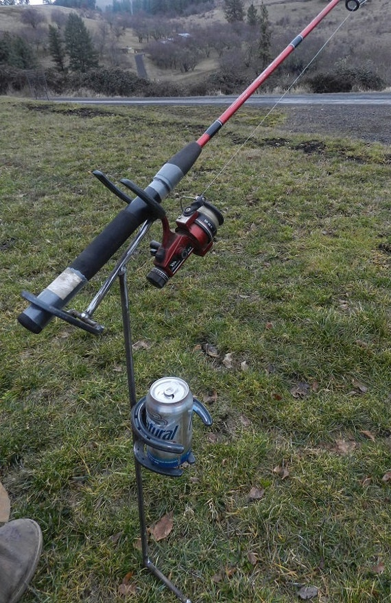 Items Similar To Fishing Pole Amp Beverage Holder Made