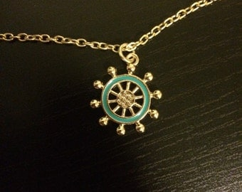 Boat wheel necklace