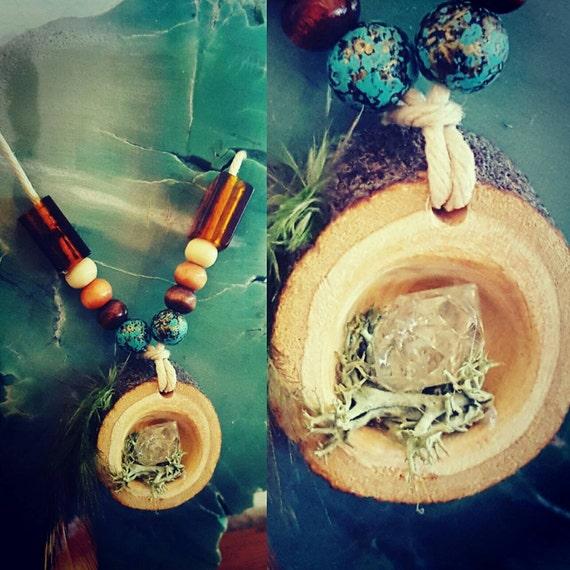 Arizona Quartz crystal- Raw branch chunk- Necklace