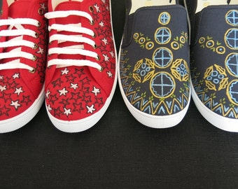 Men's hand painted shoes