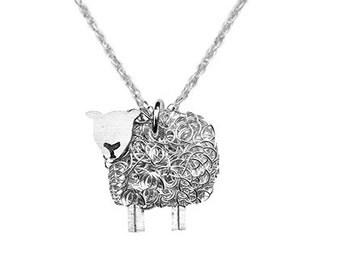 Silver Texel Sheep Necklace, Texels, sheep jewellery, texel sheep, sheep jewelry, sheep pendant, shepherdess, shepherd, sheep gift
