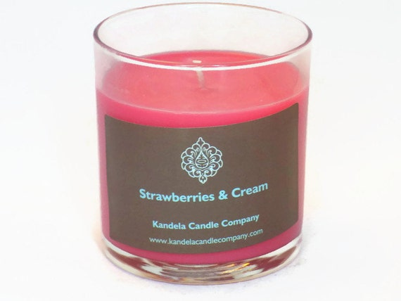 Strawberries and cream Scented Candle 13 oz. Straight Tumbler