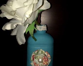 Teal Single Flower Vase