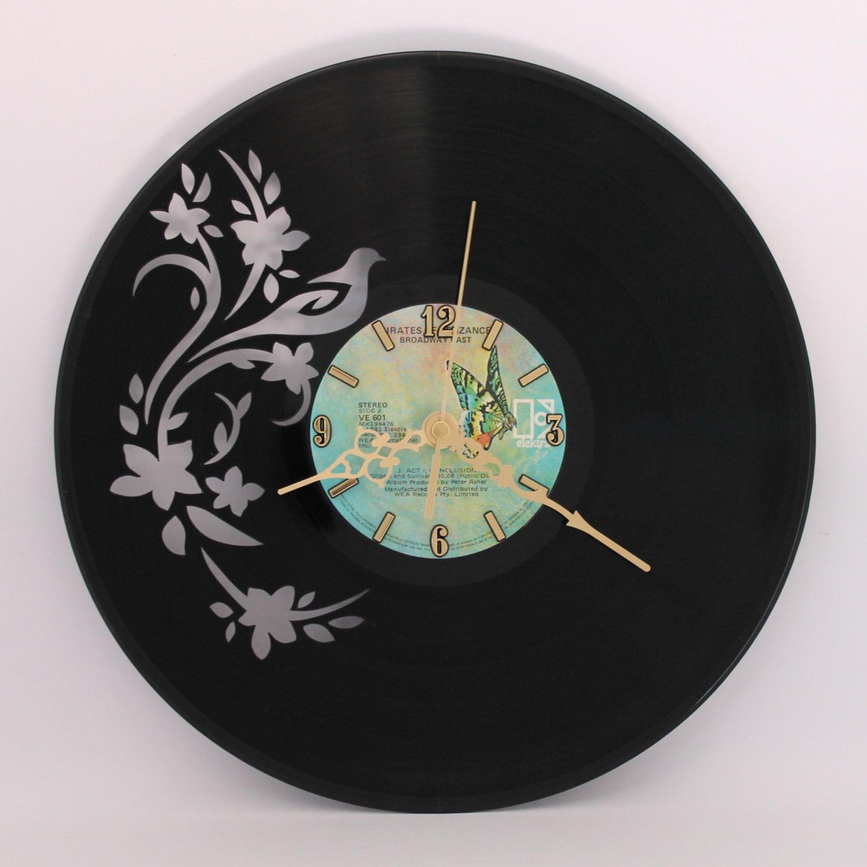 Handcarved Vinyl Record Clock Record Clock Vinyl Art Clock