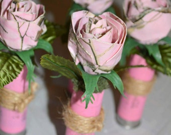 Pink Duck Tape Rose's!