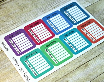 Planner Stickers -Daily Step Tracker Stickers -Reminder Stickers -ECLP Stickers -Happy Planner -Fitness Stickers -Exercise Reminder