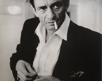 Johnny Cash 24x34 Backstage Hammersmith Odeon 1966 Music Poster