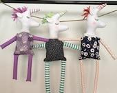 Unicorn toy, Handmade cloth Unicorns, Soft Toy, OOAK, Baby Gift, Baby Shower Gift, Unicorn Doll, Stuffed Toy, Imagination Toy, Ready to Ship