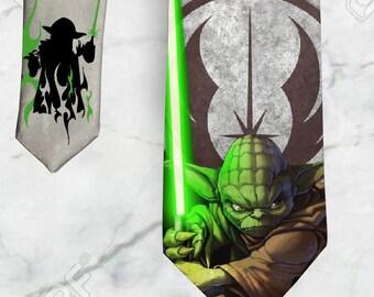 Star Wars Yoda With Lightsaber Necktie