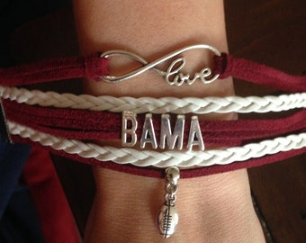 Alabama Football Bracelet