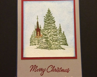 Set of 3 Asoorted Handmade Christmas Cards with envelopes included