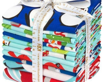 JINGLE Bundle Price reduced! Free Priority mail shipping! by Ann Kelle for Robert Kaufman CHRISTMAS fabric Fat Quarter bundle