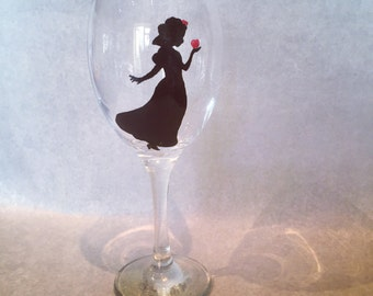 Snow White silhoutte large wine glass