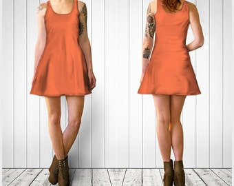 Peach Skater Dress,