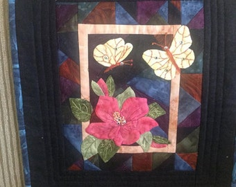 Small Hand Appliqued and Quilted Wall Hanging
