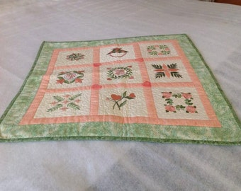 Quilted  Embroidered Table Mat