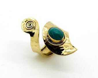Tribal Brass ring - Fair Trade, Handmade, Ethical Jewellery