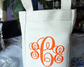 Personalized Wine Tote Bag Gift for Any Occasion - Wedding / Birthday / Quinceañera / Bridesmaid