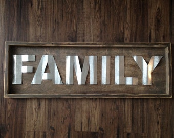 Family Rustic Wood Sign - Wall Art