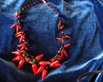 Red Hot Pepper Necklace