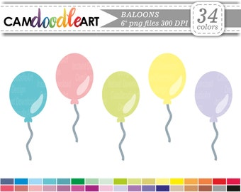 Baloon Clipart, Birthday Clipart, Scrapbooking Clipart, Digital Clip Art, Cardmaking Clipart, Planner Clipart, Sticker Clipart, png file