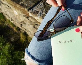 travel journal, handmade A6 journal for explorers!