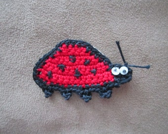 Crocheted Lady Bug for Scrapbooking