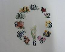 Cross Stitch #34  Flower Clock