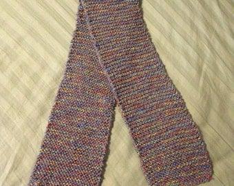 Grey/metallic colorful scarf