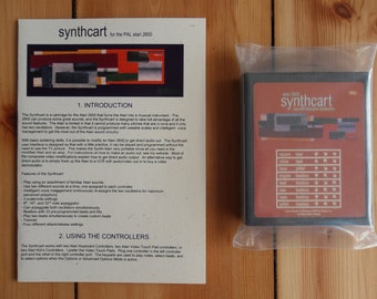Atari 2600 Synthcart Cartridge - Make Music On Your Atari 2600 PAL - Musical Instrument And Video Light Show Mode - 8 Bit Chip Tune Music