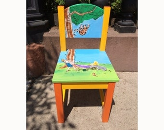 Painted Childrenu0027s Chairs   Winnie The Pooh And More